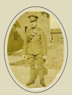 Graham Morry in Canadian Army Uniform WWI
