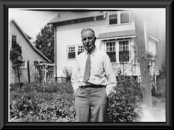 Graham Morry at his home in Medford, Massachussetts, Summer 1950