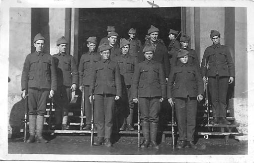 """C"" Company, 1st Battalion, RNR. Dad Morry is under X"